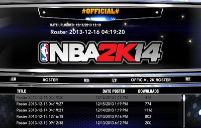 NBA 2K14 Roster Update Details