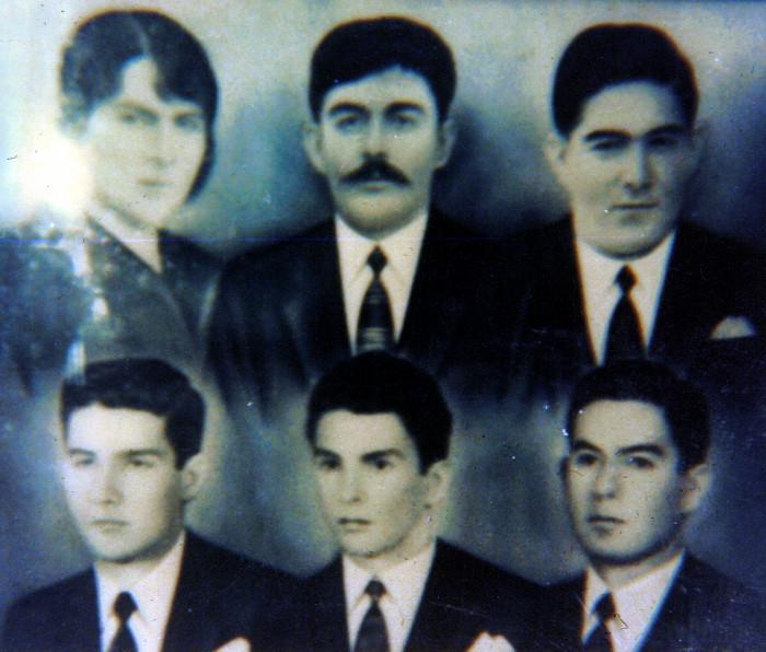 Camelia Ossa Ossa de Soto, Emiliano Soto López, hijos: Arday, Asdrubal, Ovidio, Iván. Año 1952