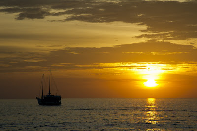 Sunset over Surin Beach, Phuket