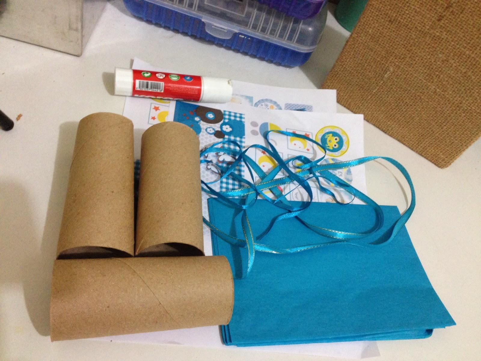 Manualidades y DIY Recuerdos de BABY SHOWER con tubos de papel
