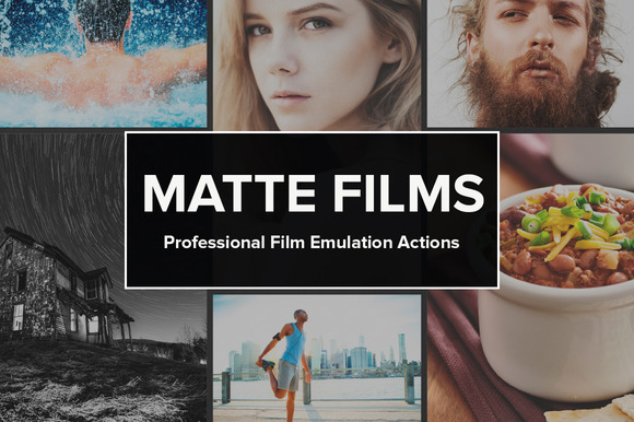 Photoshop actions film emulation