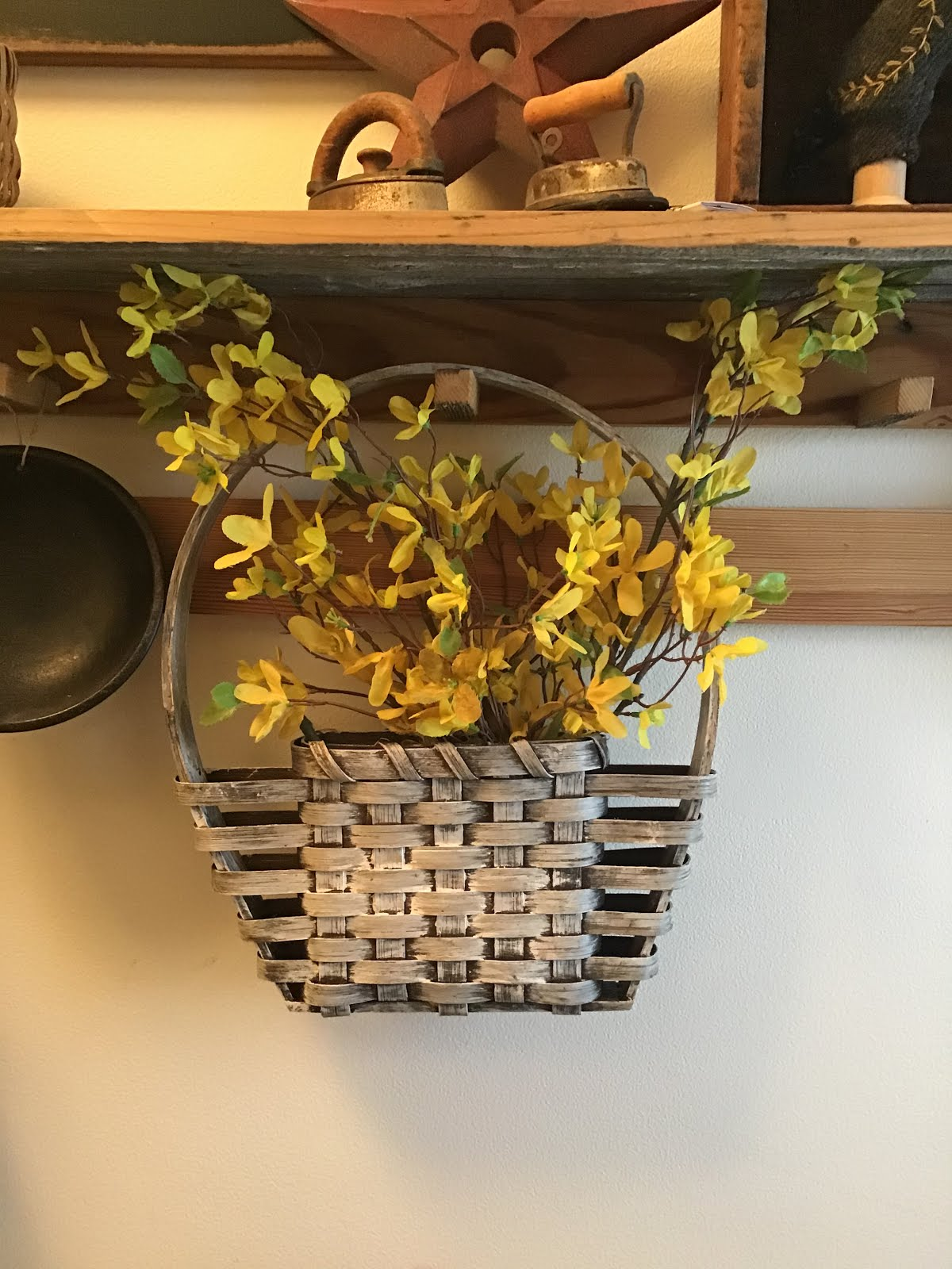 Whitewash Door Basket