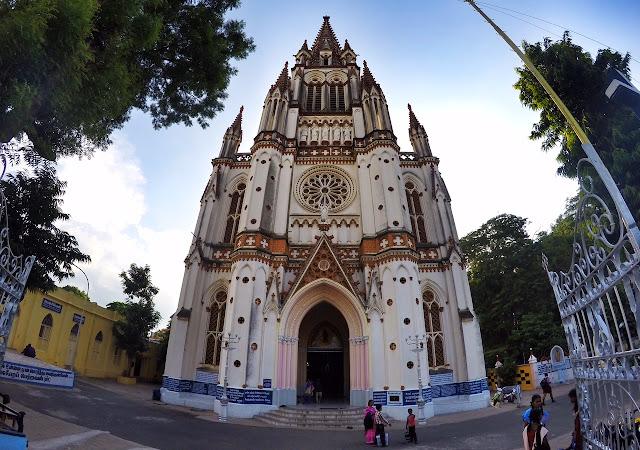 Our Lady of Lourdes Church Tiruchirappalli trichy outside view