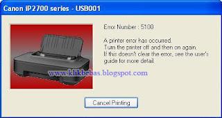 cara memperbaiki printer canon error 5100