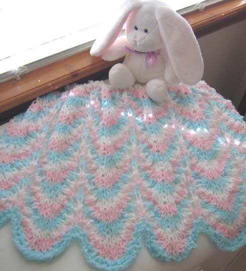 Knitted Baby Afghan Free Patterns : knit baby blanket-Knitting Gallery