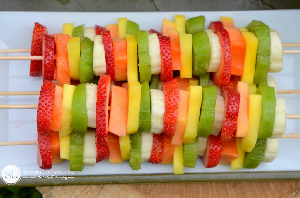 fruit kabobs are just a fun food i like the way they sliced each piece ...