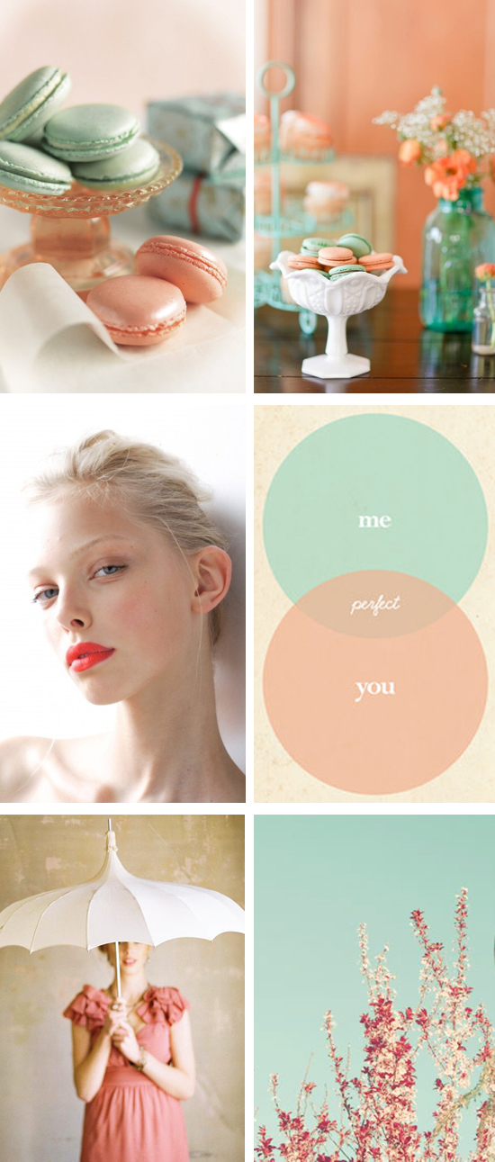 Seafoam and Coral Wedding Inspiraton Board