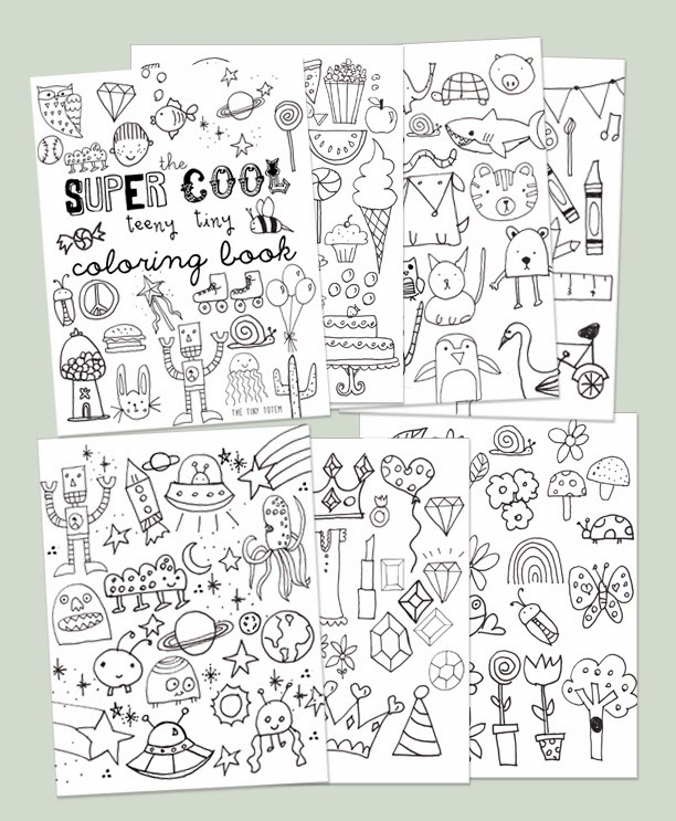 Printable Mini Coloring Book The Tiny Totem blog