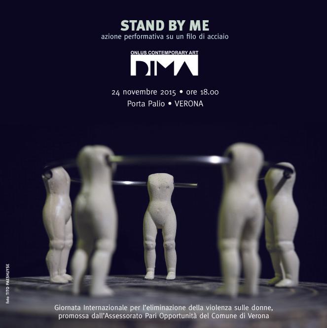 STAND BY ME Azione performativa su un filo di acciaio