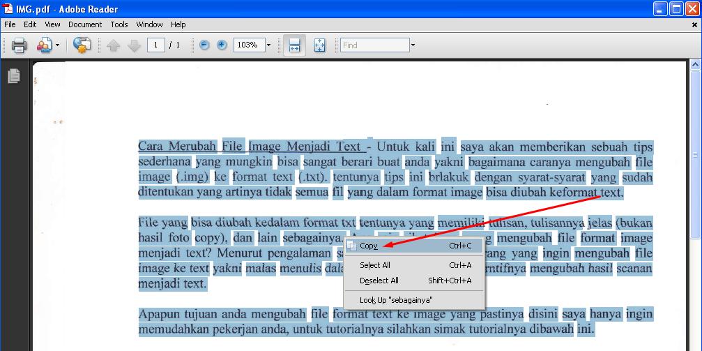 Cara Merubah File Image Menjadi Text 2