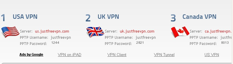 Just free vpn setup