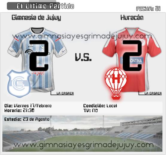 Fecha 21: Gimnasia de Jujuy vs Huracán