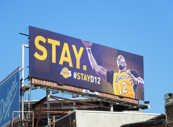 Lakers Stay D12 Dwight Howard billboard