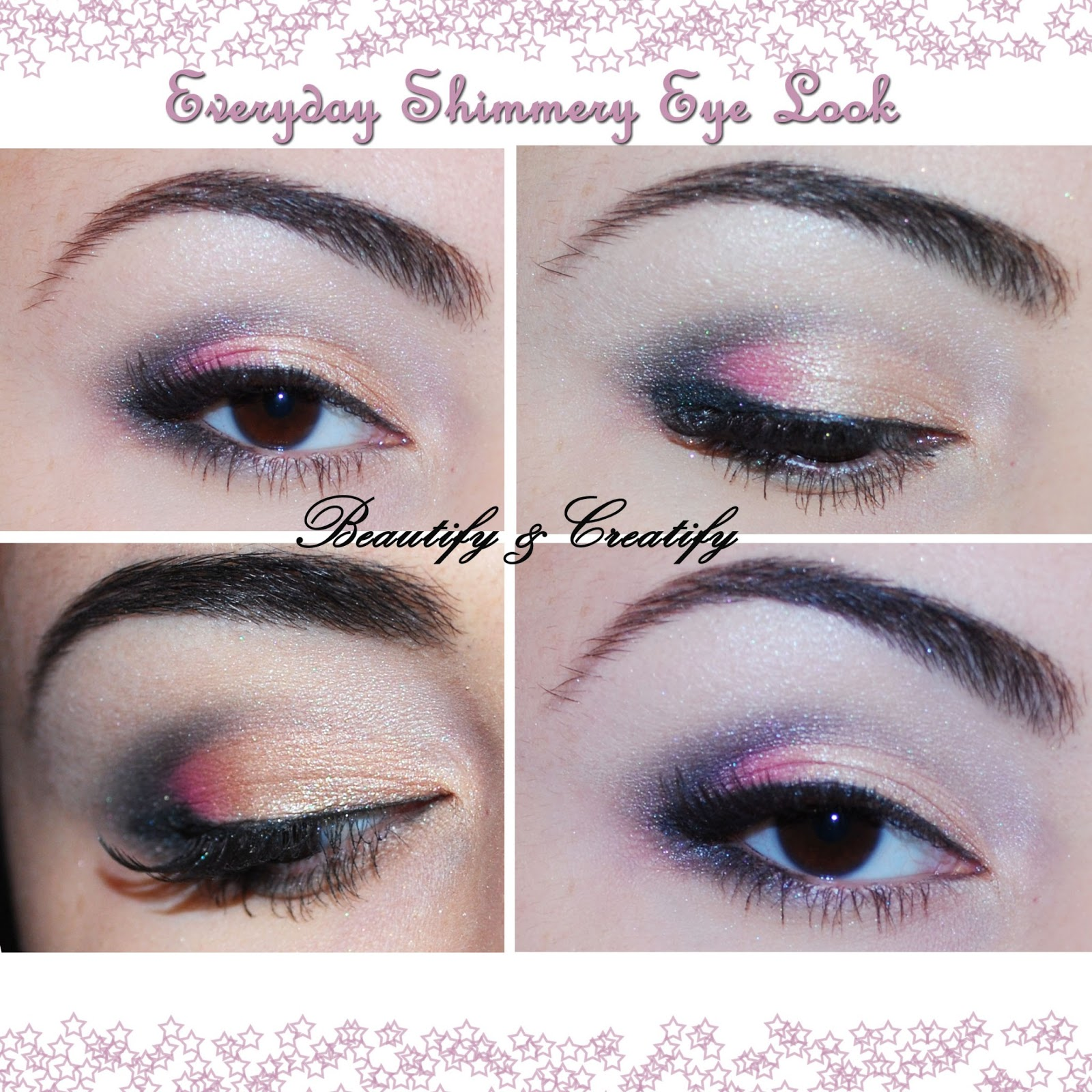 Beautify and creatify everyday shimmery spring makeup look in my experience i have seen ladies who would not consider colorful or shimmery colors wearable for work school and etc i disagree baditri Images