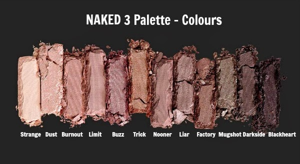 Urban Decay Naked 3 Palette - Rose Neutrals all colours