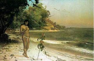 José Maria de Medeiros – Iracema, 1884.Óleo sobre tela, 167,5 x 250,2 cm.Rio de Janeiro, Museu Nacional de Belas Artes.