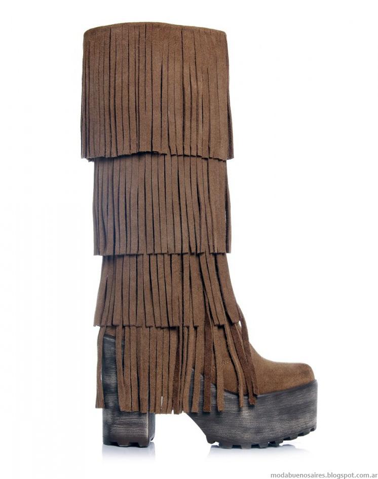 Botas 2014 Ricky Sarkany moda botas caña alta otoño invierno 2014.