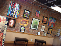 Tim Logan art at Bentonville Convention and Visitors' Bureau