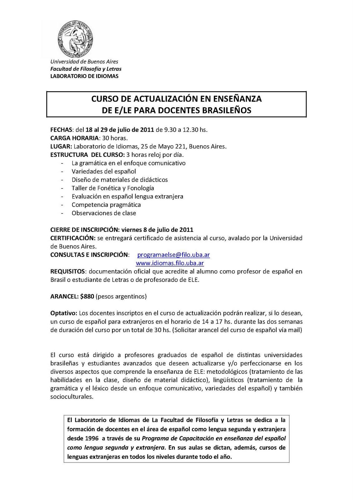 Blog Política Lingüística GCBA: junio 2011