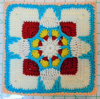 "Free Granny Square Crochet Pattern - Holiday Ornament (12"")"