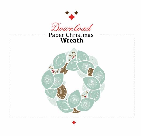 download printable christmas wreath