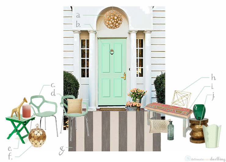 Color inspiration for May's Front Door, Delineate Your Dwelling #frontdoordecor #curbappeal #may #springcolor