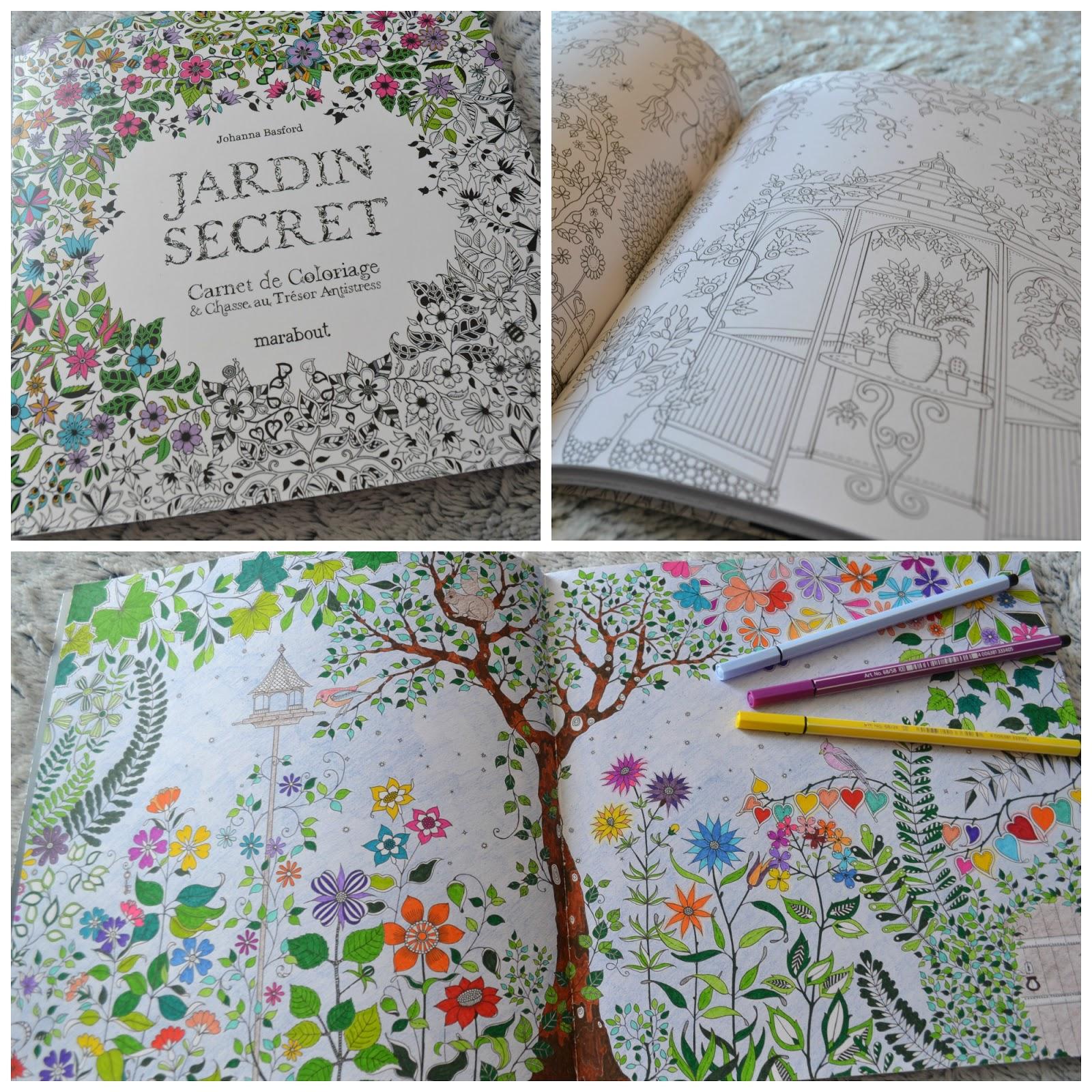 cr a colo revue jardin secret carnet de coloriage chasse au tr sor antistress. Black Bedroom Furniture Sets. Home Design Ideas