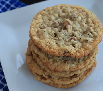oatmeal coconut and cinnamon chip cookies - greens & chocolate