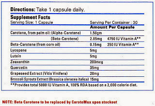 nutrition fact carotomax