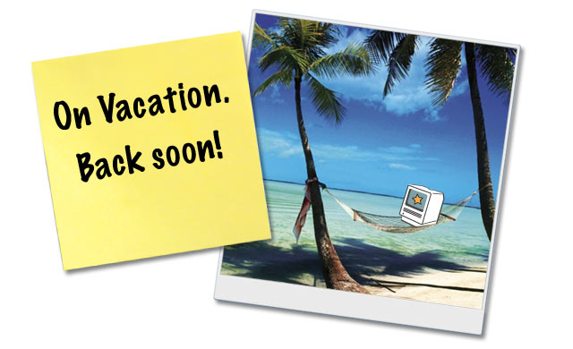 On vacation back soon