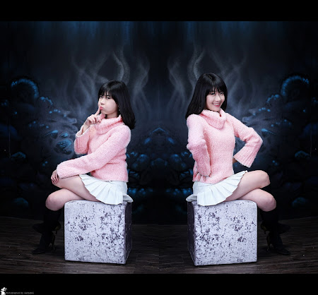 Ha Min Ji, Pink Sweater 06