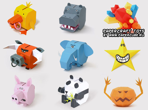 Ninjatoes 39 papercraft weblog cute papercraft animal piggy for Cute papercraft templates