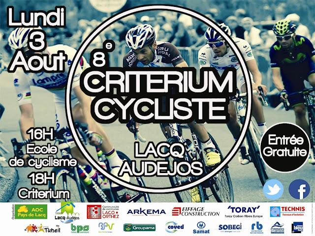 critérium cycliste de Lacq Audéjos 2015