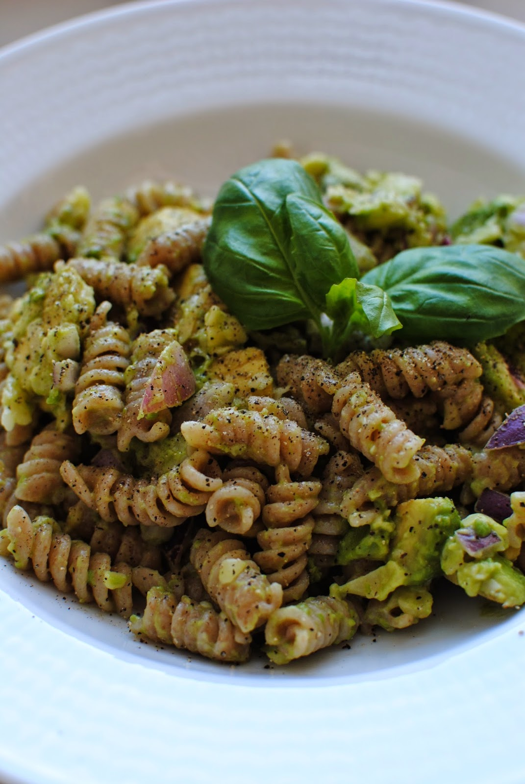 avokado, pasta, recept