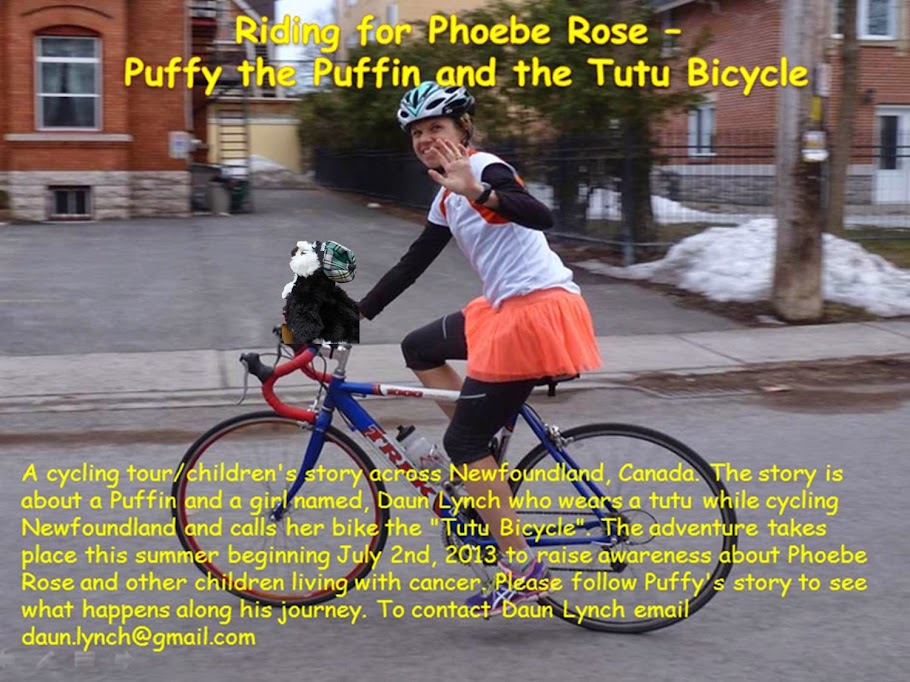 Riding for Phoebe Rose - Puffy the Puffin and the Tutu Bicycle