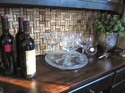wine cork backsplash