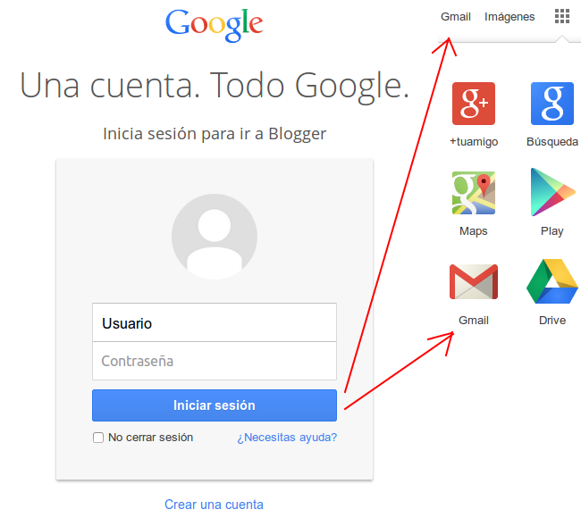 Acceso cuenta Gmail