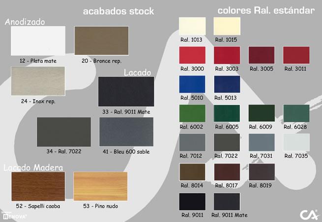 Puertas y venatanas de aluminio en girona pagina principal for Colores de aluminio para ventanas