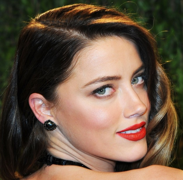 Amber Heard maquilhagem pos oscares, oscars party makeup