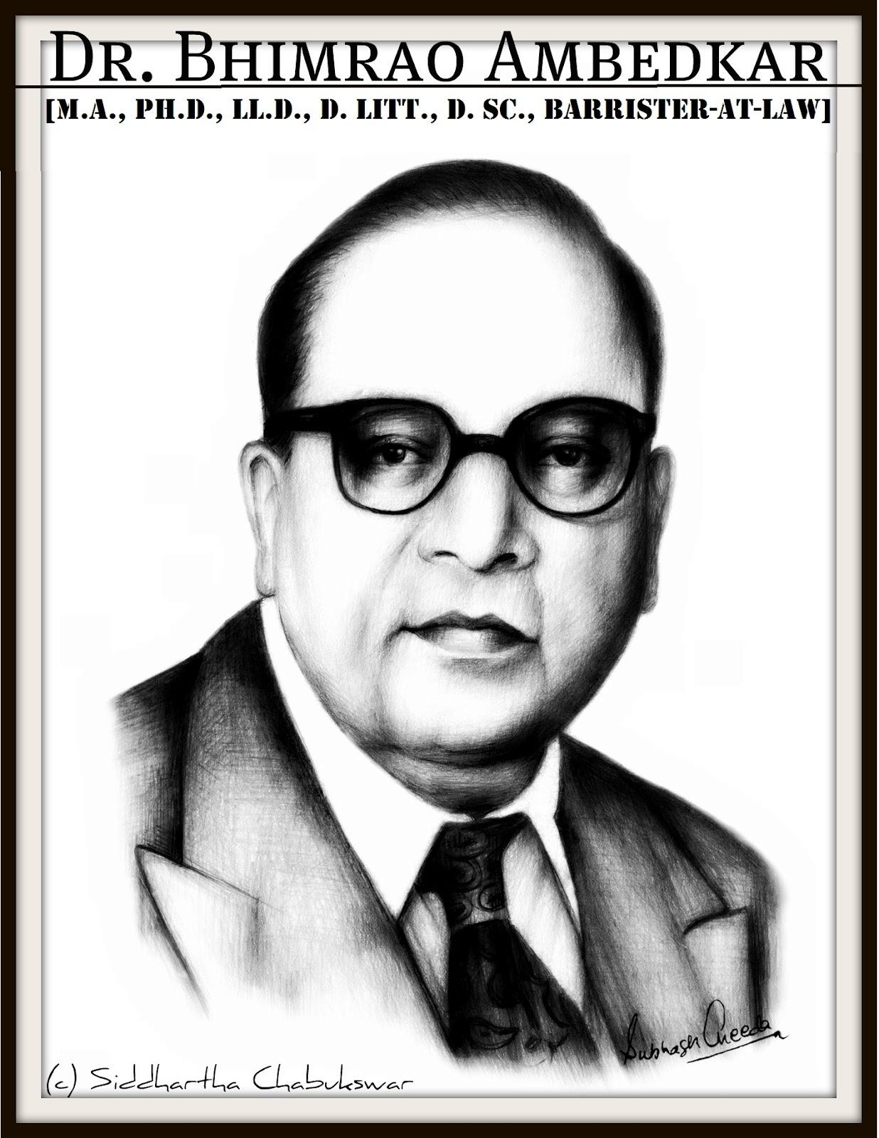 Dr Bhimrao Ambedkar Sketch Babasaheb Ambedkar Siddhartha Chabukswar Blog