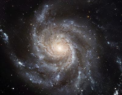 A beautiful spiral galaxy front-on