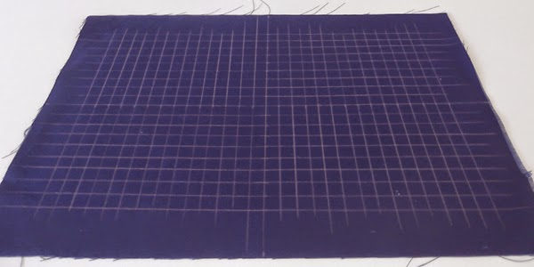 sashiko lessons, sashiko course, sashiko online course, sashiko tutorials, sashiko online tutorials, grid on a fabric