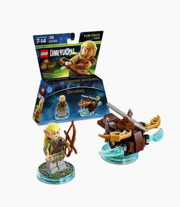 TOYS - LEGO Dimensions : Lord Of The Rings  71219 Fun Pack : Legolas & Arrow Launcher | Figura - Muñeco   [27 Septiembre 2015] | Juguetes & Videojuegos  Xbox One, PlayStation 4, Nintendo Wii U, PlayStation 3, Xbox 360   Piezas: 36 | Edad: 7-14 años