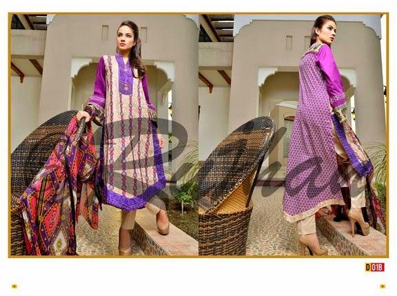FestivanaEidCollectionByRujhanFabrics wwwfashionhuntworldblogspot 3  - Festivana Eid Collection 2014-2015 By Rujhan Fabrics