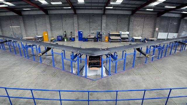 Facebook constrói drone para levar internet a áreas remotas do planeta