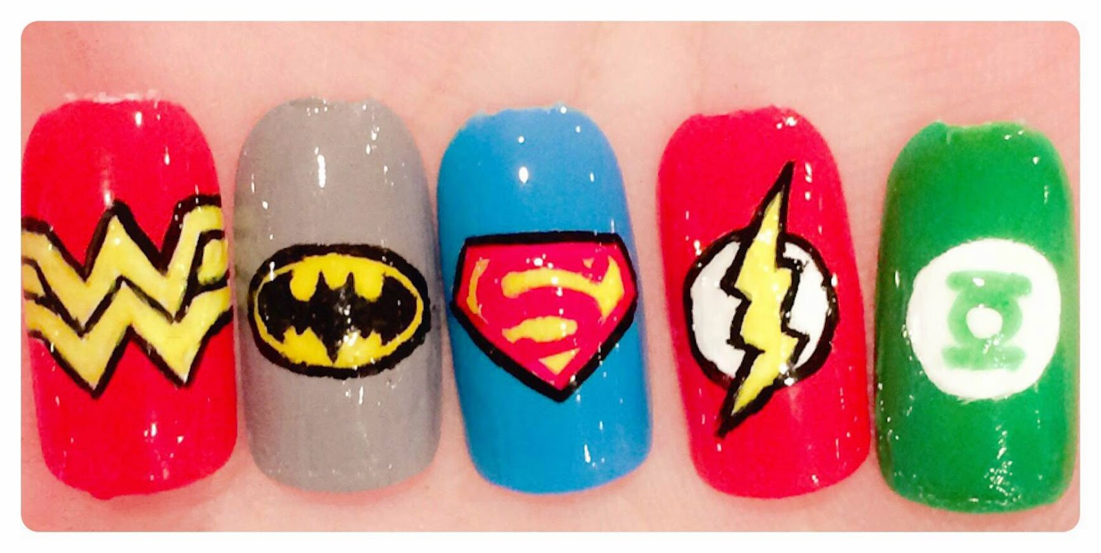 The Polish Geek: DC Comics The Justice League inspired nail art