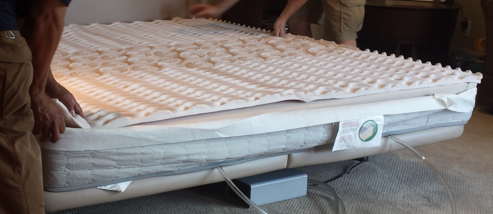an eggcrate topping was added - Sleepnumber Bed
