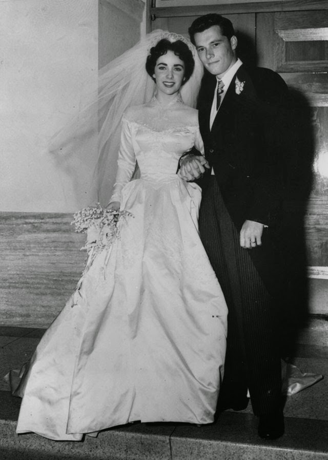 A Collection Of 40 Cool Vintage Photos Of Celebrity Weddings ~ Vintage Everyday
