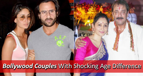 Age Difference Between Bollywood Couples - YouTube