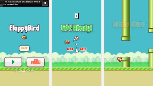 Tampilan Game Flappy Bird